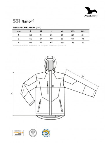2Adler MALFINI Softshell kurtka męska Nano 531 czarny
