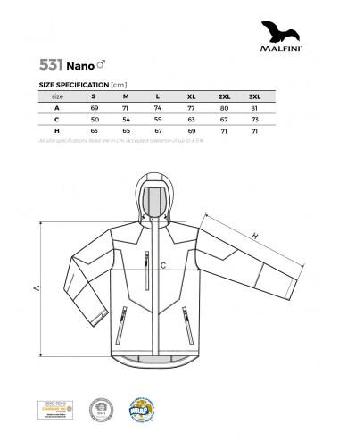 2Adler MALFINI Softshell kurtka męska Nano 531 stalowy