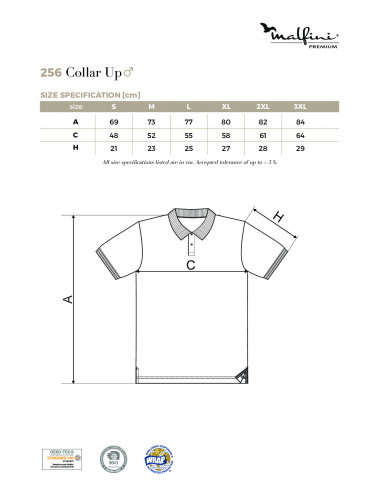 2Adler MALFINIPREMIUM Koszulka polo męska Collar Up 256 light anthracite