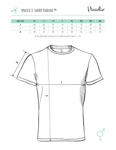 2Adler PICCOLIO Koszulka unisex Parade P71 biały