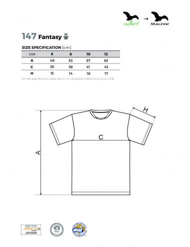 2Adler MALFINI Koszulka dziecięca Fantasy 147 chabrowy