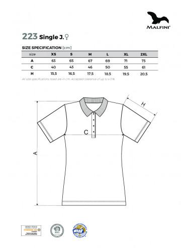 2Adler MALFINI Koszulka polo damska Single J. 223 biały
