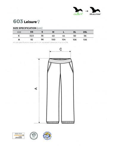 2Adler MALFINI Spodnie dresowe damskie Leisure 603 biały