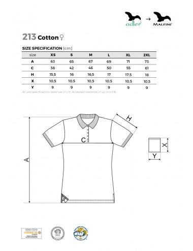 2Adler MALFINI Koszulka polo damska Cotton 213 jasnoszary melanż