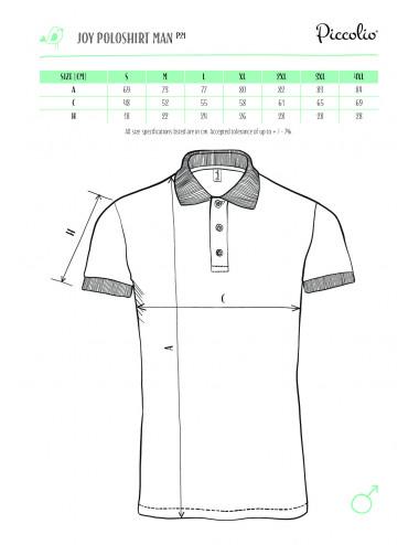 2Adler PICCOLIO Koszulka polo męska Joy P21 turkus