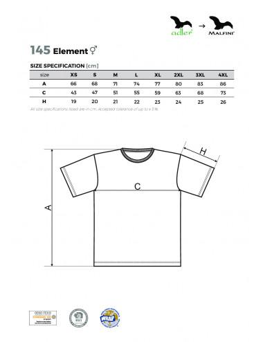 2Adler MALFINI Koszulka unisex Element 145 ciemnoszary melanż