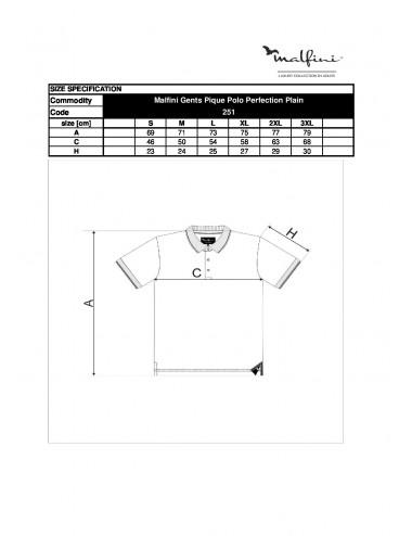 2Adler MALFINIPREMIUM Koszulka polo męska Perfection plain 251 ciemnoszary melanż