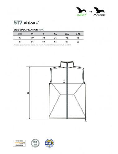 2Adler MALFINI Softshell kamizelka męska Vision 517 stalowy