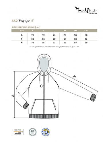 2Adler MALFINIPREMIUM Bluza męska Voyage 452 ciemnoszary melanż