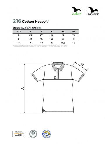 2Adler MALFINI Koszulka polo damska Cotton Heavy 216 granatowy