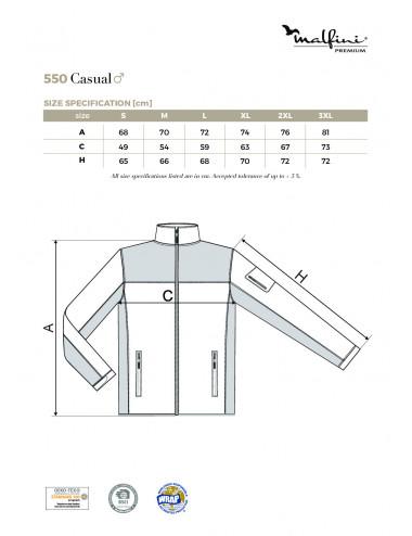 2Adler MALFINIPREMIUM Softshell kurtka męska Casual 550 knit gray
