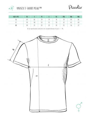 2Adler PICCOLIO Koszulka unisex Peak P74 jasnoszary melanż
