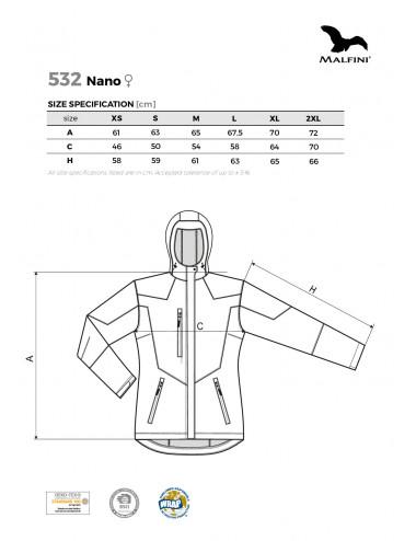 2Adler MALFINI Softshell kurtka damska Nano 532 stalowy