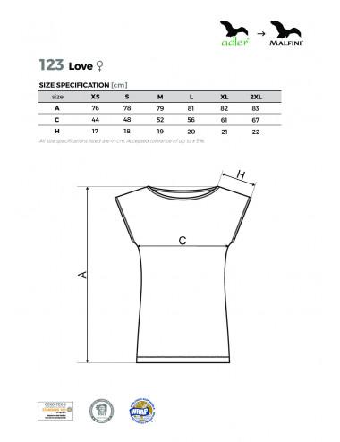 2Adler MALFINI Koszulka/sukienka damska Love 123 granatowy