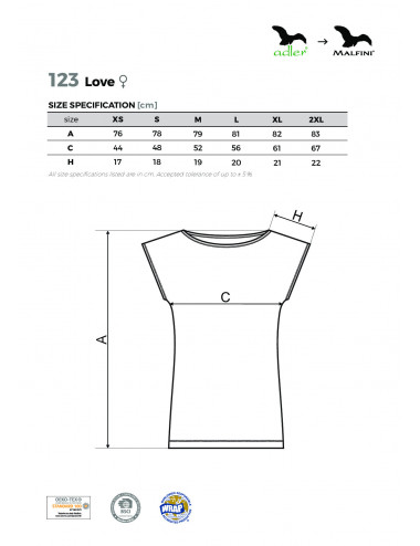 2Adler MALFINI Koszulka/sukienka damska Love 123 różowy