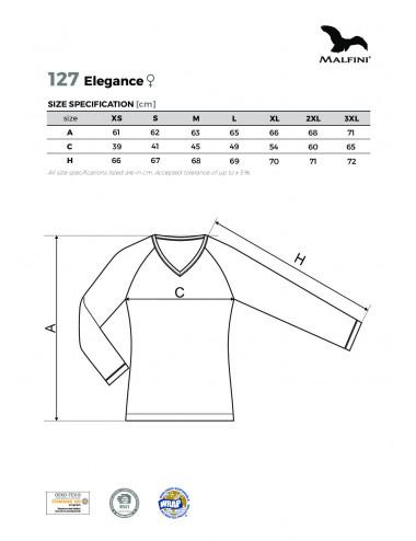 2Adler MALFINI Koszulka damska Elegance 127 ciemnoszary melanż
