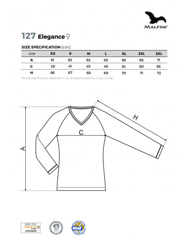 2Adler MALFINI Koszulka damska Elegance 127 granatowy