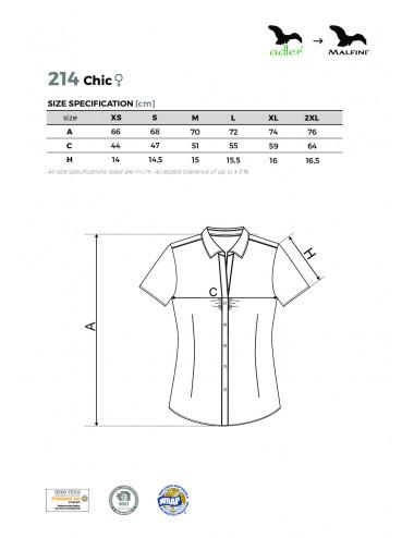 2Adler MALFINI Koszula damska Chic 214 czarny