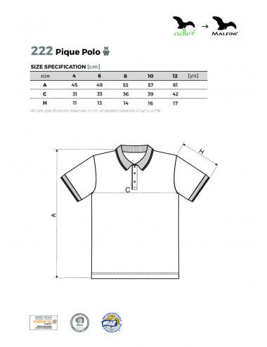 2Adler MALFINI Koszulka polo dziecięca Pique Polo 222 ciemnoszary melanż