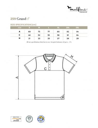 2Adler MALFINIPREMIUM Koszulka polo męska Grand 259 biały