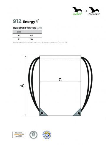 2Adler MALFINI Gymsack Unisex/Kids Energy 912 czarny