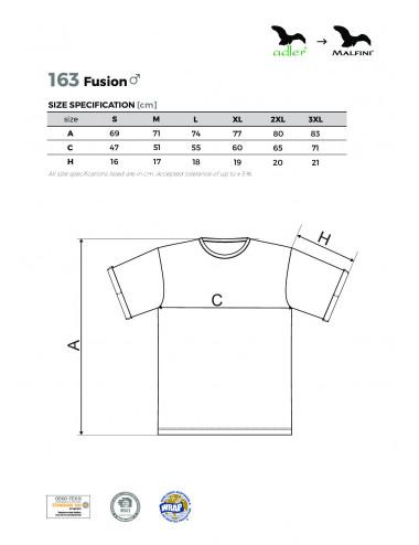 2Adler MALFINI Koszulka męska Fusion 163 ciemny denim melanż