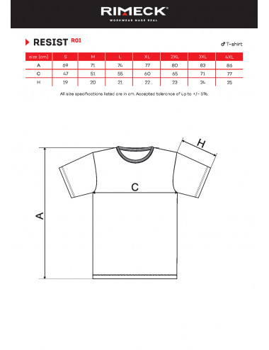 2Adler RIMECK Koszulka męska Resist R01 chabrowy