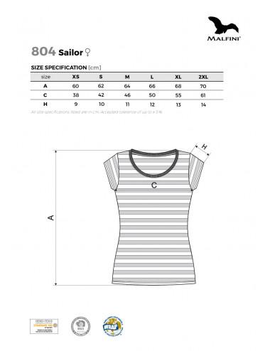 2Adler MALFINI Koszulka damska Sailor 804 granatowy