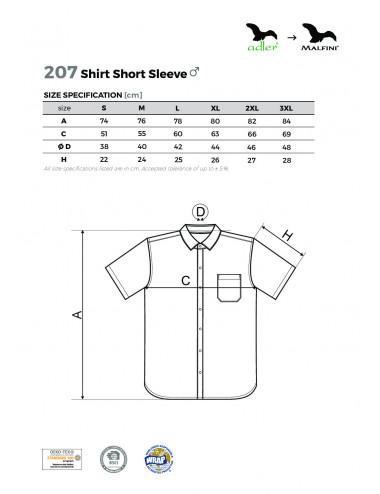 2Adler MALFINI Koszula męska Chic 207 czarny