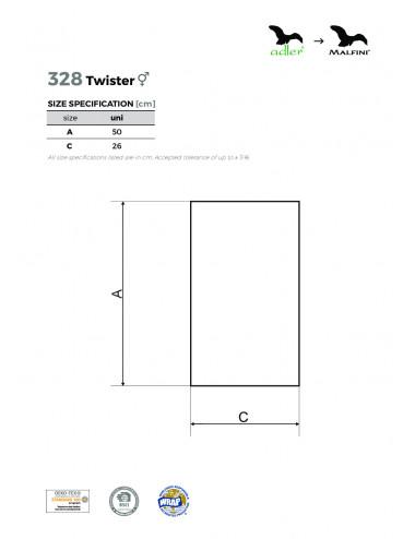 2Adler MALFINI Scarf Unisex/Kids Twister 328 biały
