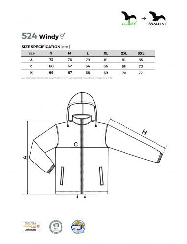 2Adler MALFINI Wiatrówka unisex Windy 524 chabrowy