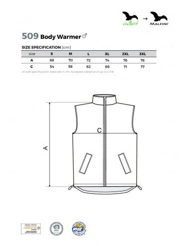 2Adler MALFINI Kamizelka męska Body Warmer 509 czarny