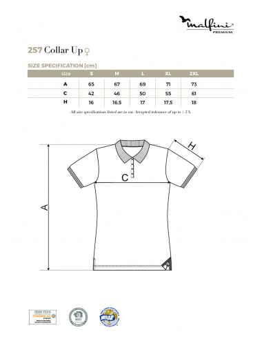 2Adler MALFINIPREMIUM Koszulka polo damska Collar Up 257 light anthracite