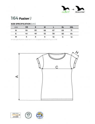 2Adler MALFINI Koszulka damska Fusion 164 czerwony melanż