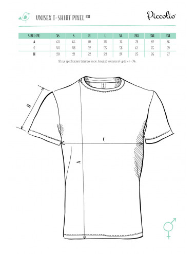 2Adler PICCOLIO Koszulka unisex Pixel P81 turkus
