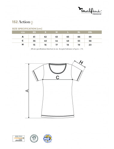 2Adler MALFINIPREMIUM Koszulka damska Action 152 czarny