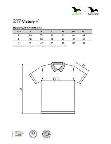 2Adler MALFINI Koszulka polo unisex Victory 217 czarny