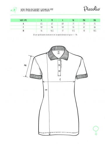 2Adler PICCOLIO Koszulka polo damska Joy P22 chabrowy