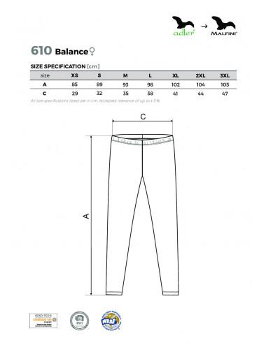 2Adler MALFINI Legginsy damskie Balance 610 biały