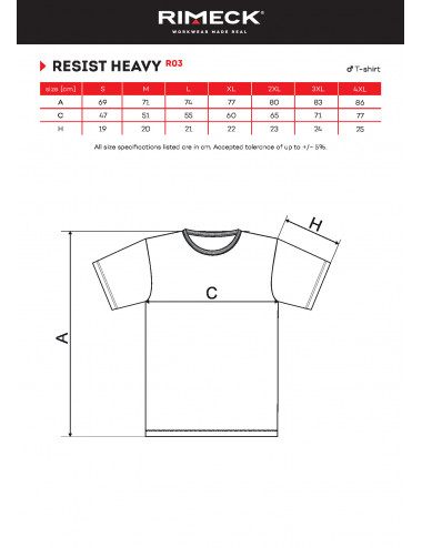 2Adler RIMECK Koszulka męska Resist heavy R03 chabrowy