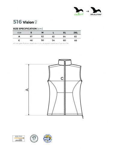2Adler MALFINI Softshell kamizelka damska Vision 516 ciemny turkus