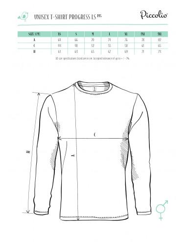 2Adler PICCOLIO Koszulka unisex Progress LS P75 jasnoszary melanż