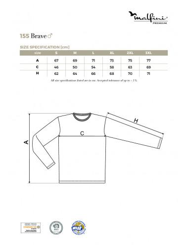 2Adler MALFINIPREMIUM Koszulka męska Brave 155 biały