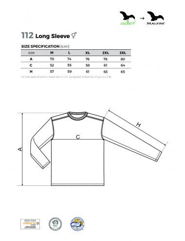 2Adler MALFINI Koszulka unisex Long Sleeve 112 czarny