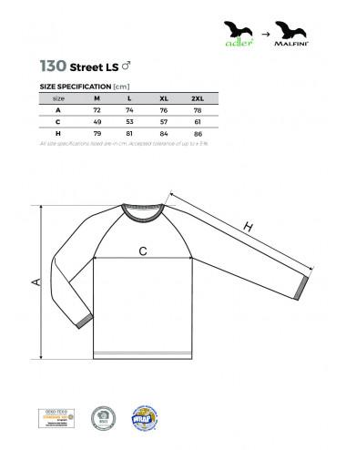 2Adler MALFINI Koszulka męska Street LS 130 marlboro czerwony