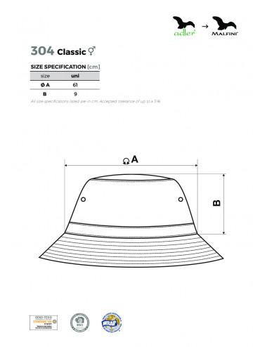 2Adler MALFINI Kapelusik unisex Classic 304 granatowy