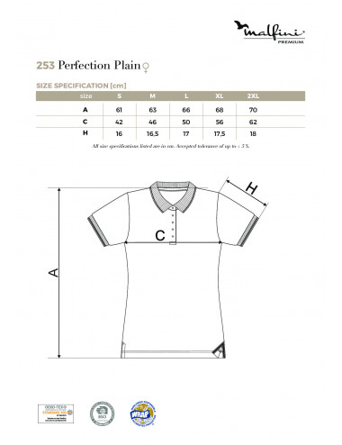 2Adler MALFINIPREMIUM Koszulka polo damska Perfection plain 253 granatowy