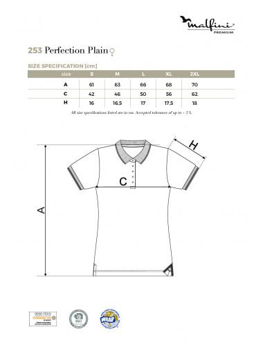 2Adler MALFINIPREMIUM Koszulka polo damska Perfection plain 253 ciemnoszary melanż