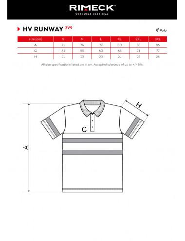2Adler RIMECK Koszulka polo unisex HV Runway 2V9 żółty odblaskowy