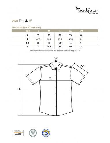 2Adler MALFINIPREMIUM Koszula męska Flash 260 czarny